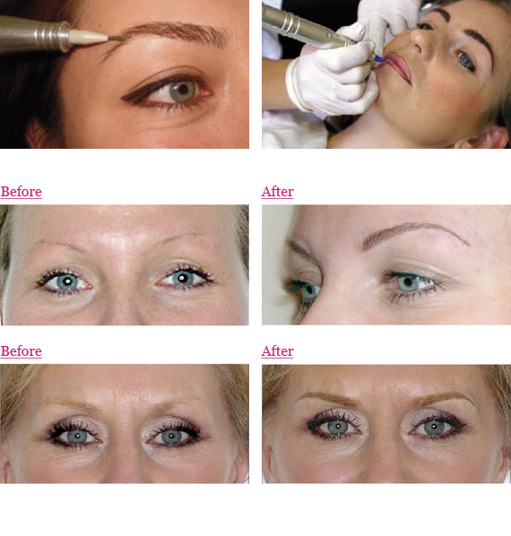 Make-up: Before/After Examples